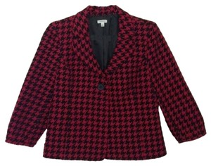 Semantiks Red & Black Houndstooth Blazer