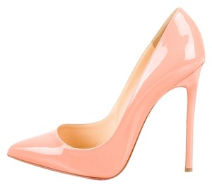 Christian Louboutin Coral Beige Nude Patent Patent Leather Leather Stiletto Pointed Toe New 40.5 10.5 So Kate So Kate Pigalle Beige, Coral Pumps