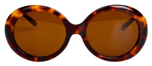 MEGUMI-O MEGUMI-O Asian Fit Jackie O Sunglasses in Dark Tortoise with Polarized UV400 RX-able Lens