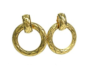 Chanel Auth CHANEL Hoop Clip Earrings Metal Gold (BF078271)