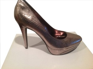 Kenneth Cole Thin Siletto Heels Pewter Platforms