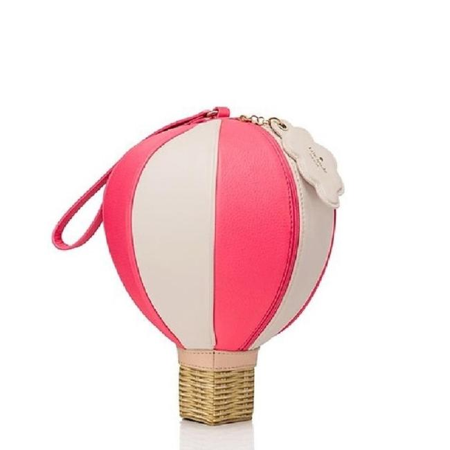 Item - Get Carried Away Hot Air Balloon Pink/ White Multicolor Leather Wristlet