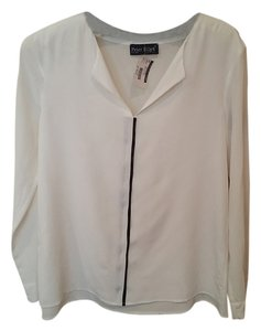 Peter Elliot Business Happy Hour Silk Top White with Black