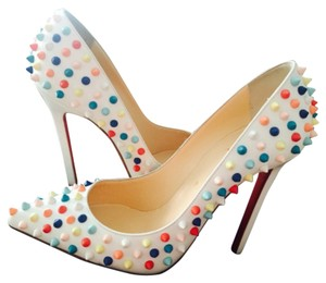 Christian Louboutin White Multi Pumps