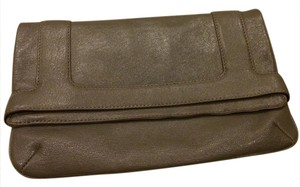 Marc Jacobs Leather Designer Small Gray Clutch