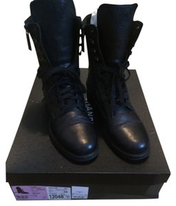 Chanel Combat Military Black Boots