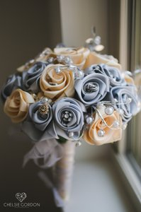 Satin Bridal Bouquet