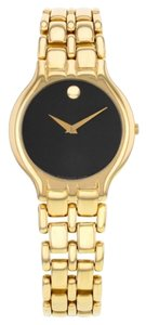 Movado Movado Museum 33mm Black Dial 18K Yellow Gold Ladies Watch (11884)