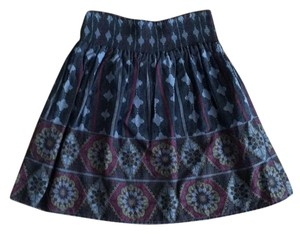 Ecote Mini Skirt Blue, purple, green