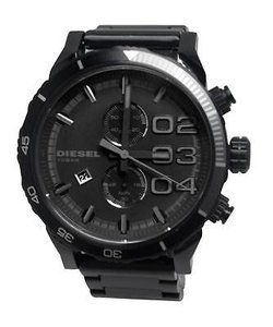 Diesel Diesel Dz4326 Mens Black Double Down Series Analog Display Quartz Chrono Watch