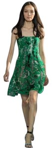 Diane von Furstenberg short dress Green multi Silk Georgette Fit And Flare on Tradesy