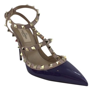 Valentino Rockstud Purple Pumps