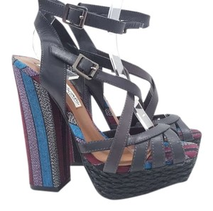 Naughty Monkey Aztec Open Toe Black / Multi Sandals