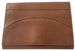 Krizia Textured Leather Brown Clutch
