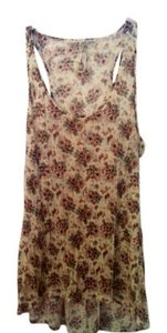 Free People Top Cream with Brown Paisley