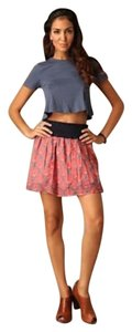 Free People Boho Mini Skirt Coral pink