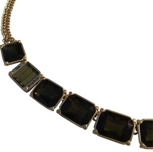 Lia Sophia Lia Sophia Bib Necklace - Dark Green & Gold