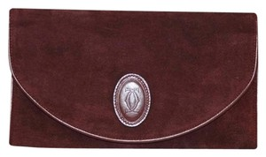 Cartier Must De Oxblood Clutch