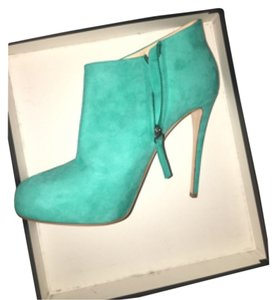 Barneys New York Turquoise Aqua Blue Boots