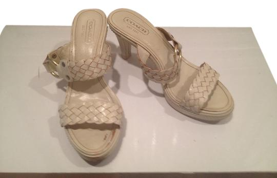 Coach Leather winter white Sandals