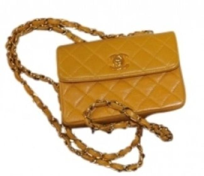 Item - Yellow/Mustard Quilted Leather Cross Body Bag