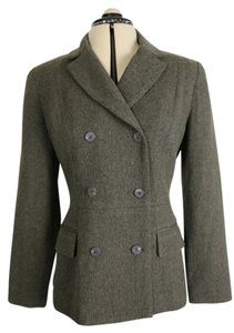 Jenny Maag Doublebreasted Olive/ dark grey tweed Blazer