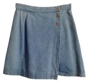 Vintage Mini Skirt Light Blue Denim