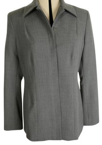 Georgiou Studio Tunic Hidden Placket Greyish Olive Blazer