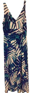 Navy blue, green and white Maxi Dress by Chaps