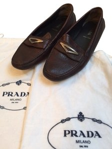 Prada Driving Moccasin Loafers brown Flats