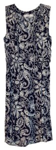 Ann Taylor LOFT short dress Navy print Floral Paisley Spring on Tradesy