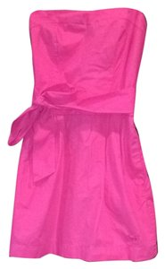 Abercrombie & Fitch short dress Hot Pink Strapless on Tradesy