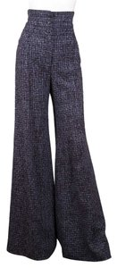 Chanel Wide Leg Pants Blue
