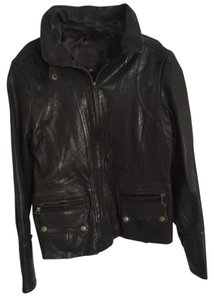 Banana Republic Brown Leather Leather Jacket