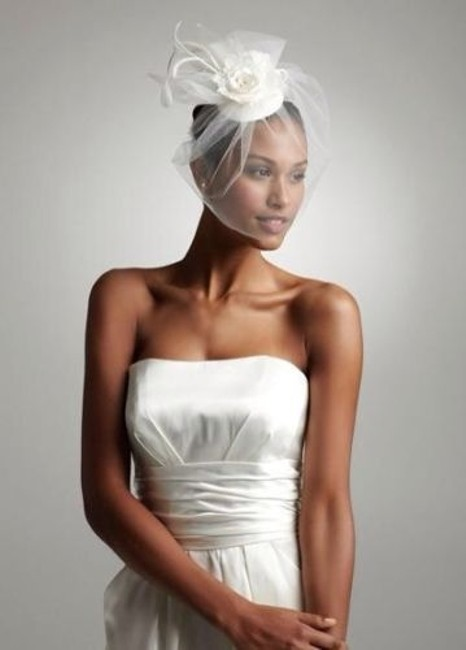 Item - Light Ivory Birdcage Vintage Style Blusher with Flowers and Crystals (Vh7950) Bridal Veil