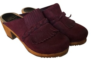 Sven swedish clogs Bordeaux suede Mules