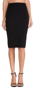 RVN Rvnks005 Basic Sheath Skirt Black
