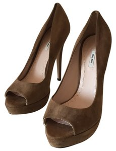 Miu Miu Light brown Platforms