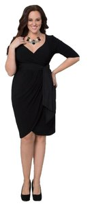 Kiyonna Lbd Wrap Plus Sleeves Dress