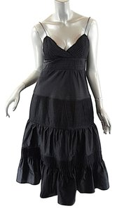Catherine Malandrino short dress Black Silk Blend Satin Spaghetti Strap on Tradesy