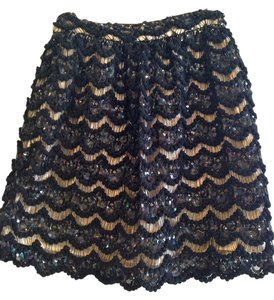 Alice + Olivia Skirt Black & Champagne