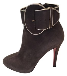 Christian Louboutin Suede Gray Boots