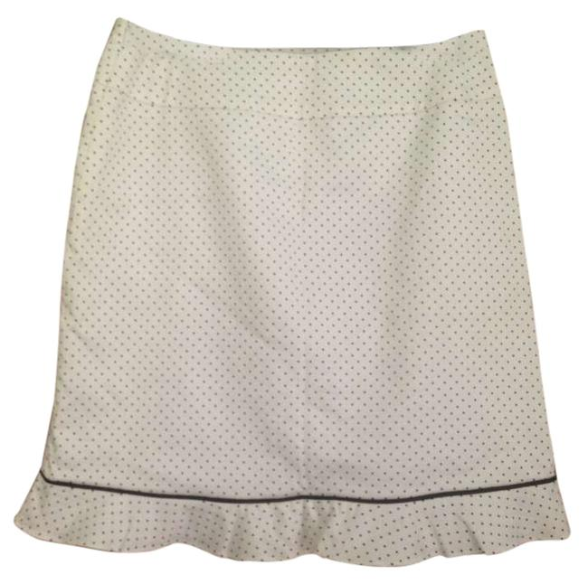Michele Skirt White with black polka dots
