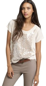 J.Crew Sequin Silk Top Dusty rose