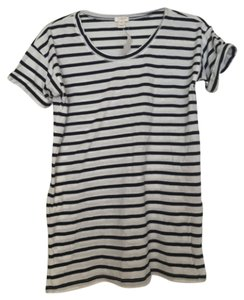 J.Crew T Shirt Navy and white striped