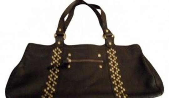 Preload https://item3.tradesy.com/images/spiegel-satchel-handbag-cute-chic-luxury-black-leather-with-gold-studs-tote-111787-0-0.jpg?width=440&height=440