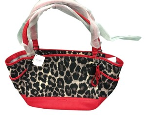 Coach Tote in black/red/white ocelot print