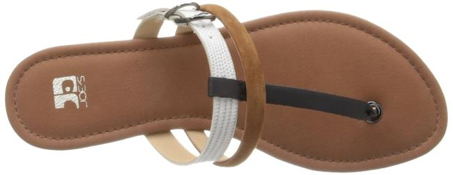 Item - White/Tan Box Jeans Marchele Colorblocked T-strap White/Tan New In Sandals Size US 7.5 Regular (M, B)