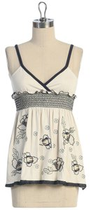 Anthropologie Floral Embroidered Top