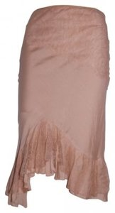 Ann Ferriday Lace Ruffle Slip One Size Skirt Nude